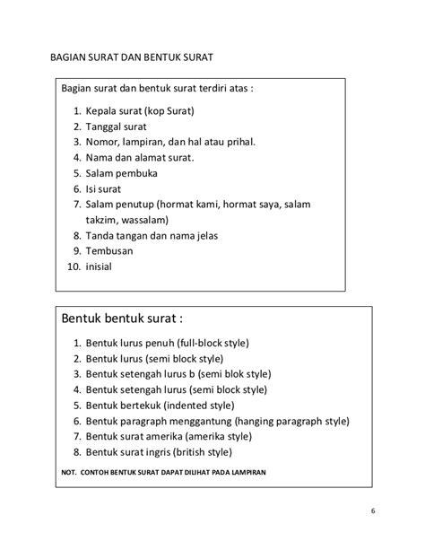 Indented Style Surat Niaga by Contoh Surat Dinas Bentuk Hanging Paragraph Kumpulan