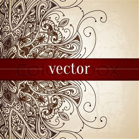 vector pattern for wedding invitation vintage vector pattern hand drawn abstract background