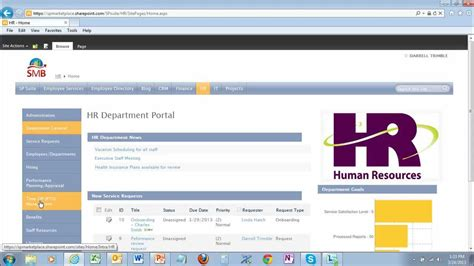 Hr Portal Template For Sharepoint 2010 And 2013 And Office 365 Youtube Sharepoint Web Template