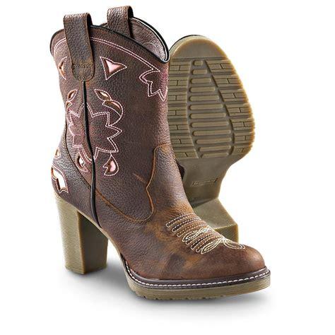 rockstar boots for s roper 174 rockstar western boots brown pink