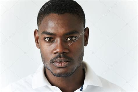 cologne african america men wear highly detailed close up portrait of handsome young
