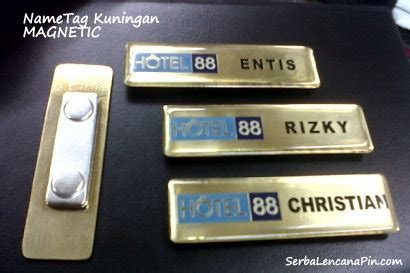 Pin Resin Kuningan 1 pin magnet nametag magnet serbalencanapin