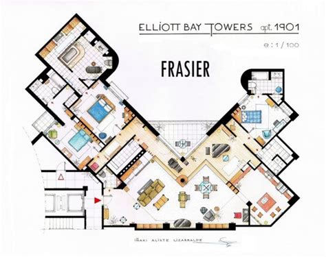 New York Brownstone Floor Plans by Floor Plans Of Homes From Famous Tv Shows