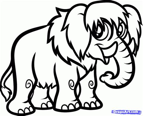 make a drawing how to draw a woolly mammoth step by step dinosaurs