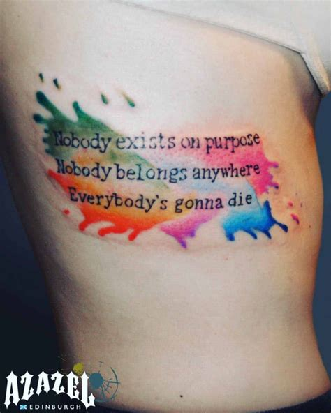watercolor tattoo edinburgh existential lettering best ideas gallery