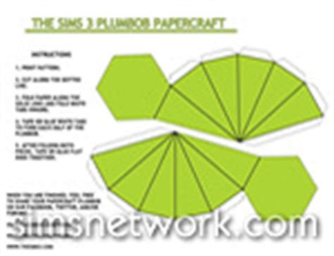 plumbob papercraft snw simsnetwork com
