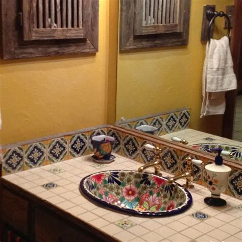 mexican tile bathroom designs 236 best images about decorating with talavera tiles on