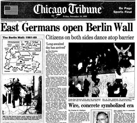 berlin wall newspaper archive the berlin wall comes chicago tribune