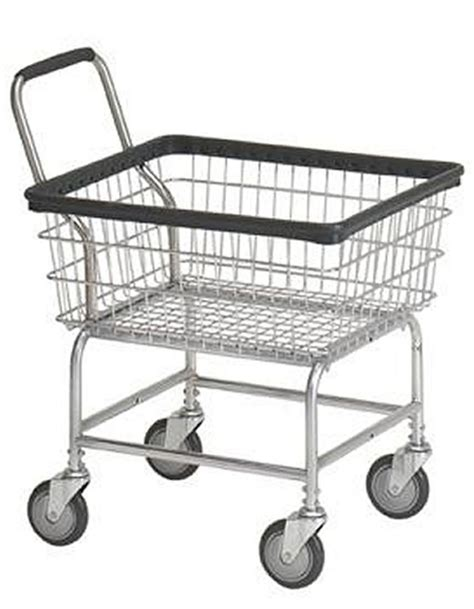 Laundry Cart 2 5 Bushel With Wheels Basket Heavy Duty Laundry Cart