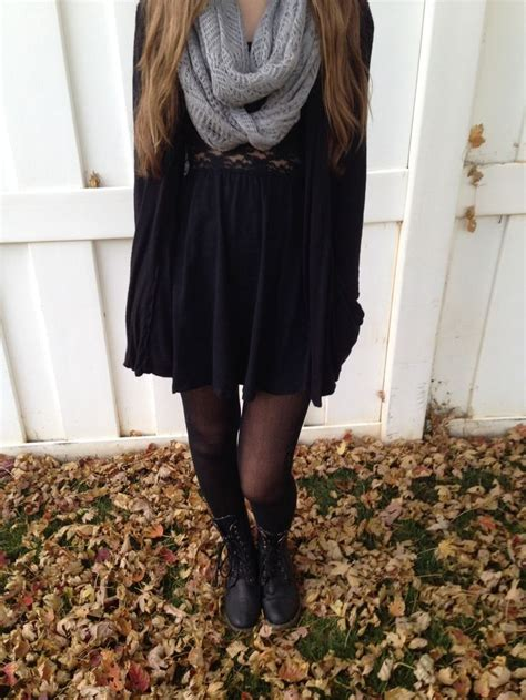 fall dresses with boots fall dress and black combat boots combat boots
