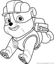 rubble paw patrol coloring page paw patrol rubble colouring pages house and home