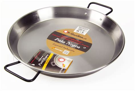 large induction paella pan the paella company 38cm polished steel paella pan for ceramic induction aga hobs