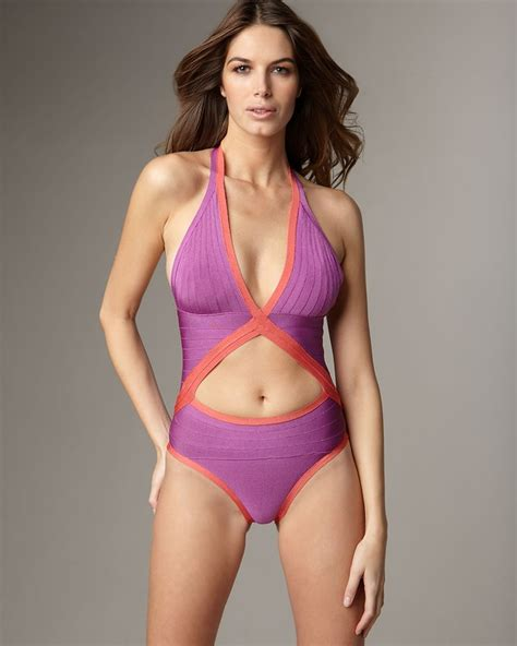 pin by sophie leger on dream house pinterest herve leger bikini dress in purple fashionaddictive