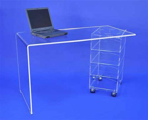 bureau 4 tiroirs plexiglass