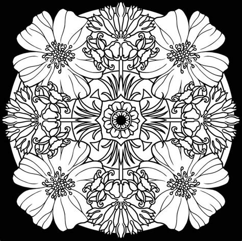 flower background coloring page creative haven flower mandalas coloring book stunning