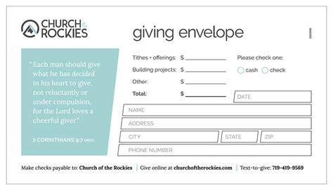 church offering envelope