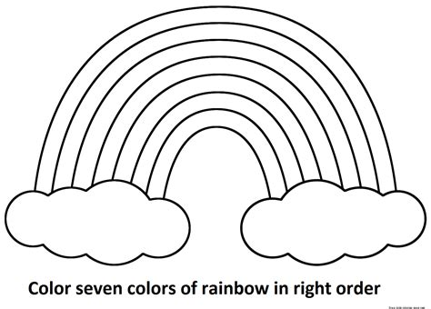 Coloring Pages Coloring Page Of A Rainbow Rainbow Printable Colour In Pictures