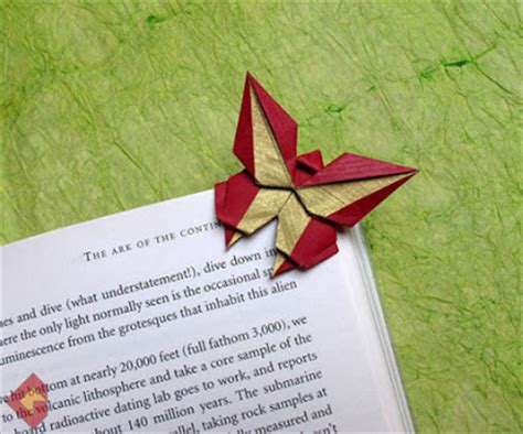 Butterfly Origami Bookmark - origami maniacs origami butterfly bookmark by grzegorz