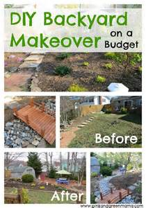 diy backyard makeover on a budget from pink and green
