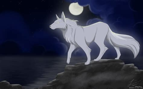 A Anime Wolf by Black And White Wolf Anime Wolf Pictures To Pin On