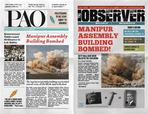 modern tabloid layout modern tabloid front page design project