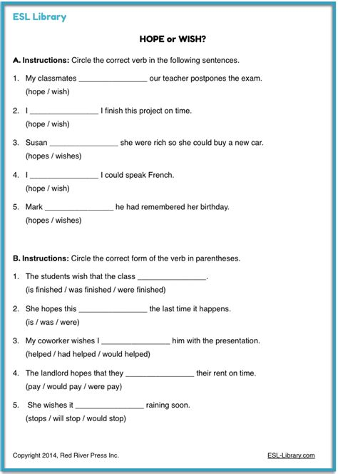 verb pattern hope verb pattern exercises pdf english teaching worksheets