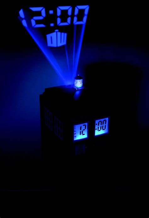 Alarm Clock Projects Time On Ceiling by Doctor Who Projection Alarm Clock Tardis
