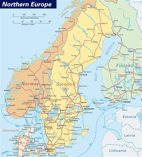 norway europe norway and sweden map