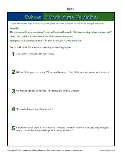 incorporating quotes worksheet worksheets integrating quotes worksheet opossumsoft worksheets and printables