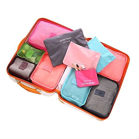 amazon travel items cocoly 7pcs travel organizers packing cubes luggage