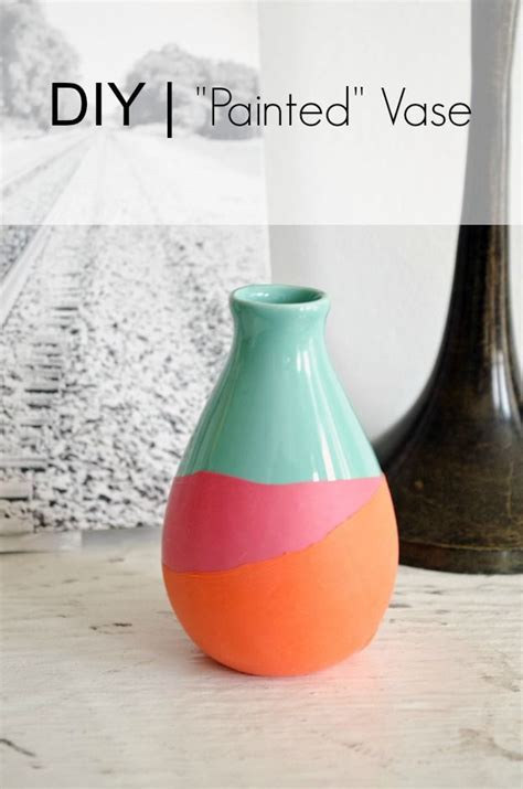 apartment decor diy painted glass vases best 25 diy painted vases ideas on