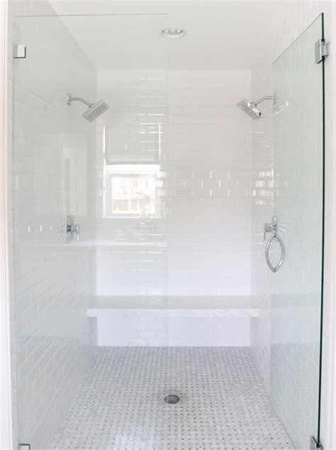 white shower the midway house master bathroom studio mcgee