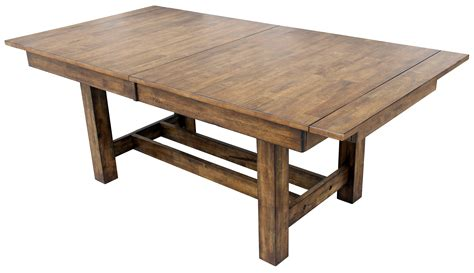 extendable trestle dining table mariposa 132 quot rustic whiskey extendable trestle dining