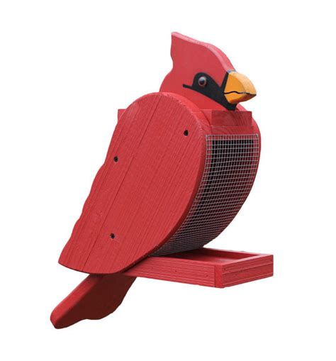 amish made cardinal bird feeder