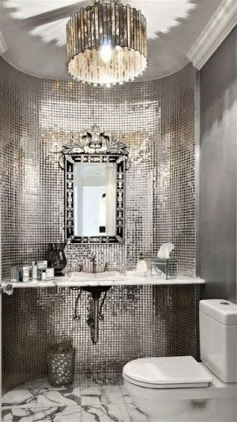 luxury silver bathroom luxurydotcom silver bathroom