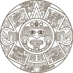 stylized aztec calendar vector colourbox