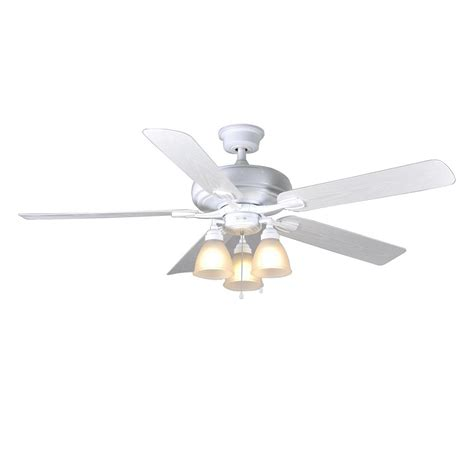 60 white ceiling fan with light home decorators collection trentino ii 60 in indoor