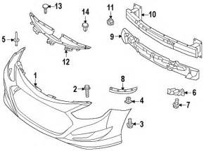 Hyundai Part Numbers Parts 174 Hyundai Cover Fr Bumper Partnumber 865114r000
