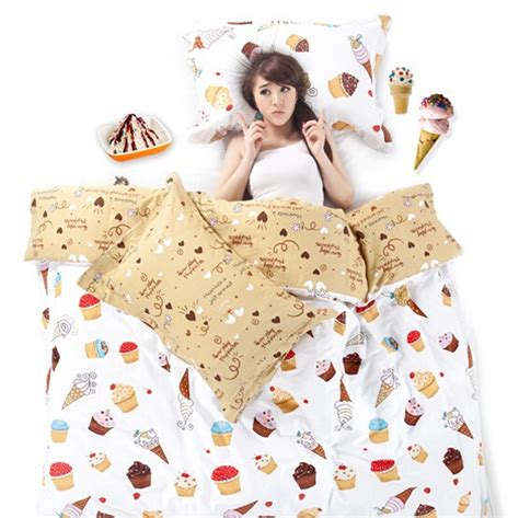 ice cream bedding s v korean cartoon bedding sets cotton bed linens ice cream duvet covers king size