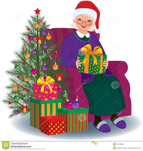 christmas elderly gift for the beloved stock vector image 35146386