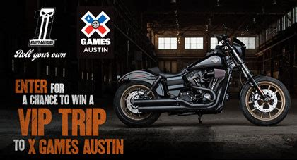 Harley Giveaway - harley davidson giveaway win a 2016 harley davidson trip to the x games and more