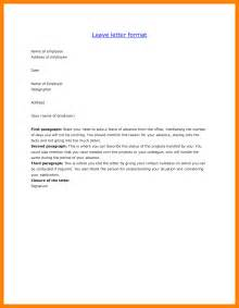 Request Letter Mail Format 6 Leave Mail Format Childcare Resume