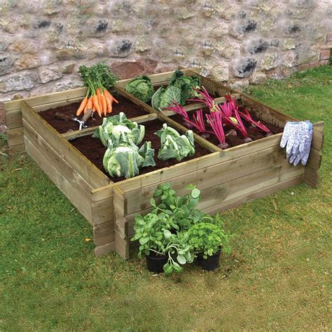Vegetable Planters Wooden Raised Vegetable Bed Planter By Grange
