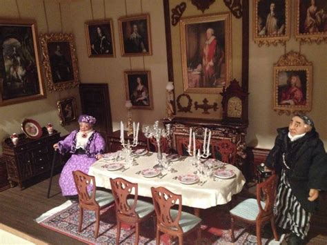 downton abbey dining room pin by amy fahey on dollhouse miniatures pinterest