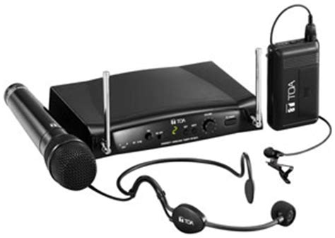 Speaker Toa Wireless wireless microphones