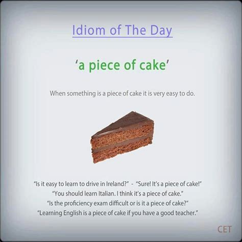 pieces meaning a of cake idioms