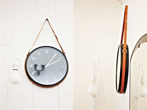 diy leather belt clock hanger 15 free recycled craft ideas beautify your space without spending a dime new craft works