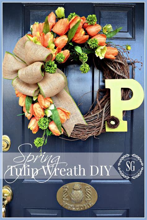 spring wreaths diy spring tulip wreath diy stonegable