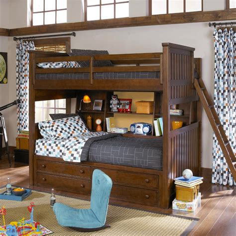 twin over full bunk bed with storage mason full over twin bunk bed with bedside storage