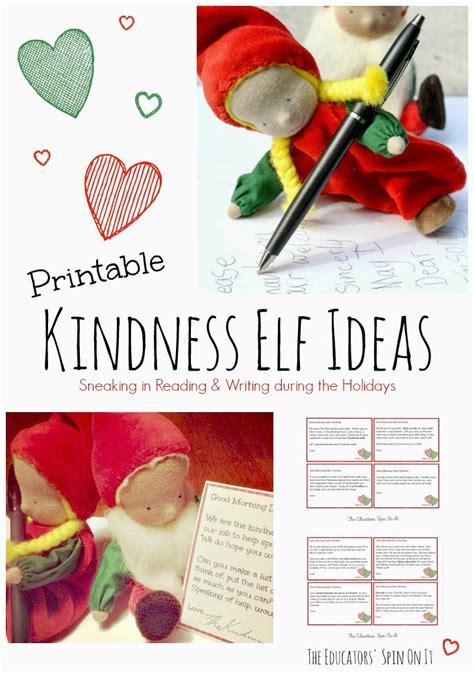 printable kindness elf ideas the educators spin on it kindness elves free printables